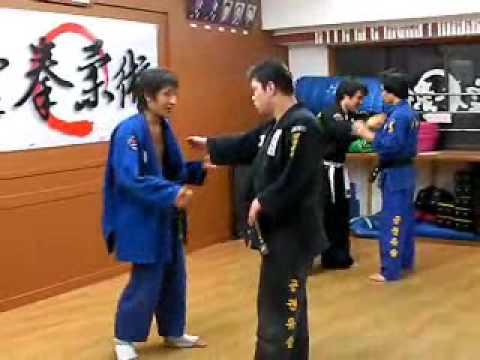 (54)sparring training Gongkwon Yusul(Korea jiu jitsu Hapkido)