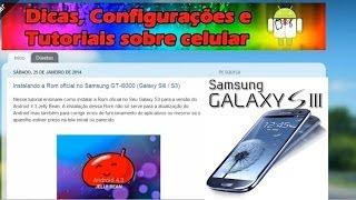 Instalando A Rom Oficial No Samsung GT-I9300 (Galaxy SIII