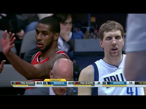 2014.03.07 - Dirk Nowitzki vs LaMarcus Aldridge Battle Highlights - Mavericks vs Trail Blazers