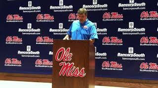 Matt Luke Egg Bowl Press Conference