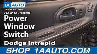 How To Install Repair Replace Master Power Window Switch