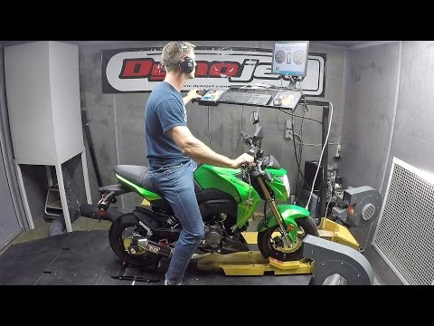 2017 Kawasaki Z125 Pro Yoshimura RS-2 Exhaust Install With Dyno Video
