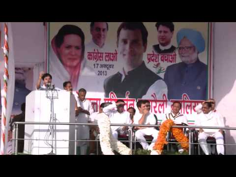 Jyotiraditya Scindia's Address at a Public Rally in Gwalior, Madhya Pradesh on Oct 17, 2013