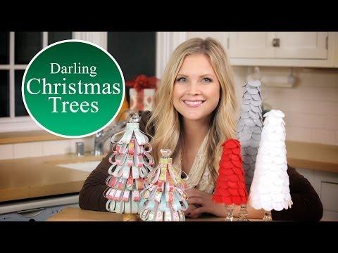 DIY Darling Christmas Trees - DIY Papír karácsonyfák készítése