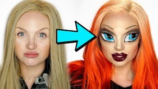 Bratz Doll Makeup Challenge (With an SFX Twist💀)