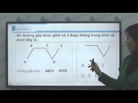 [Toán tiểu học] [Toán 2, Toán lớp 2] - Đường gấp khúc- Độ dài đường gấp khúc - [LIKA-K12School]
