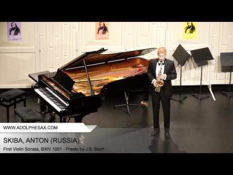 Dinant 2014 - SKIBA Anton (First Violin Sonata, BWV 1001 - Presto by J.S. Bach)