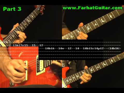 Young Lust Pink Floyd - Guitar TAB Part 3 Backing Track  www.FarhatGuitar.com