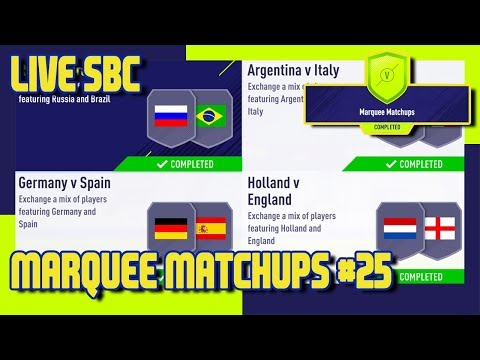 FIFA 18 - Marquee Matchups SBC #25 & Pack Opening