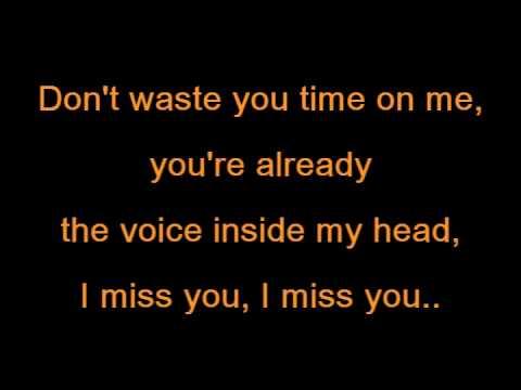 Blink 182 - I miss you lyrics