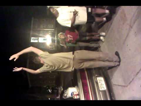 Drunk gayman teaching lil girls to dance