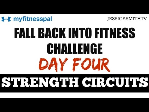 30 Minute Circuit Training Full Total Body Strength Workout with Dumbbells for All Levels