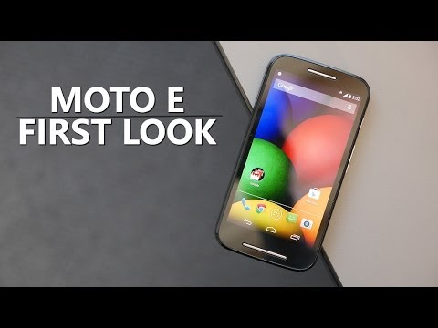 Moto E - First Look!