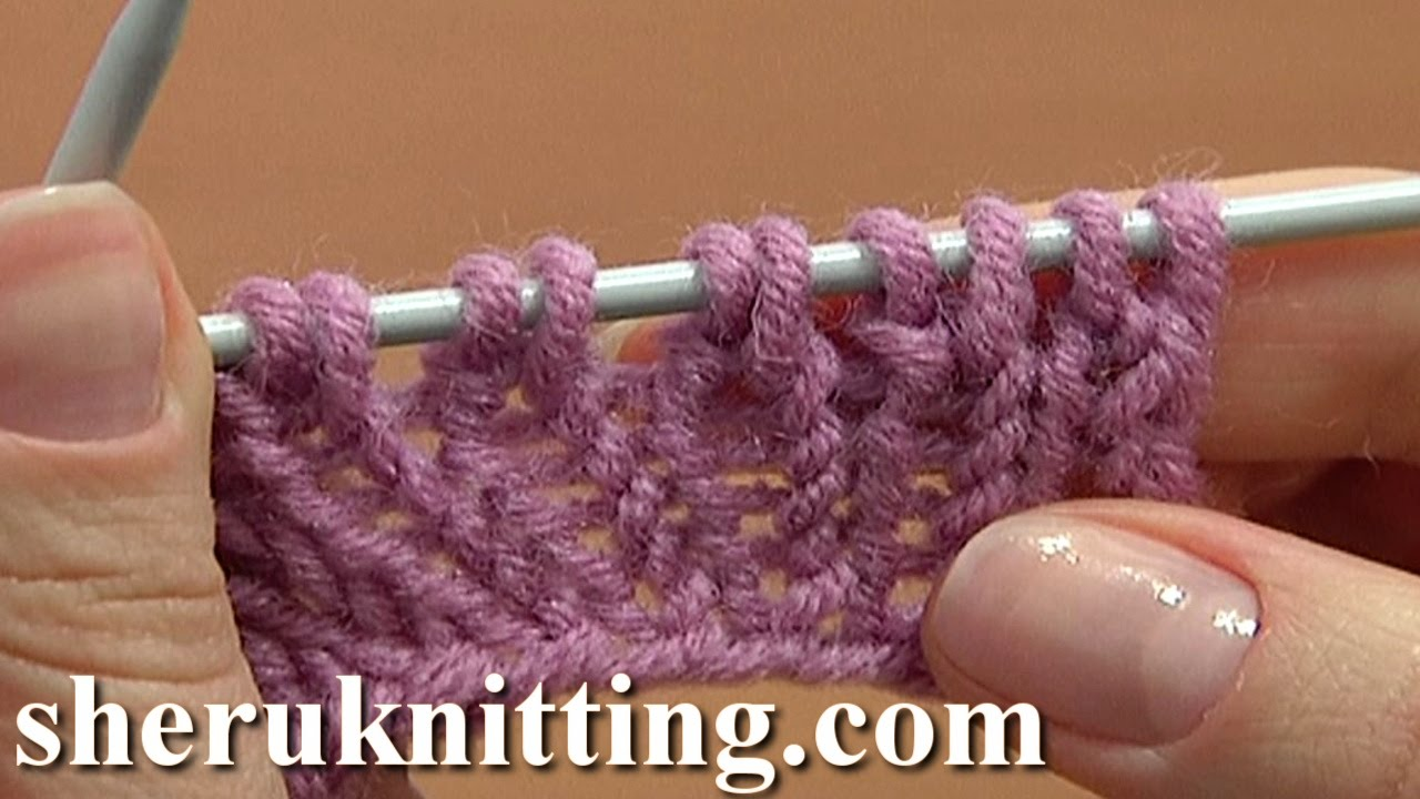 Knitting Increasing Stitches At The End Of A Row : Increasing Stitches Knit Stitch On Row Below Tutorial 8 Method 4 of 14 Increa...
