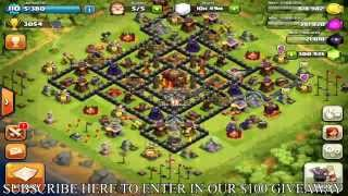 Clash Of Clans How To Get Free Gems! & Max Out Base