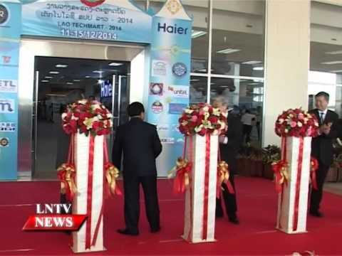 Lao NEWS on LNTV: Lao TECHMART 2014 officially opens.15/12/2014