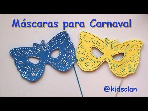 antifaces de carnaval en goma eva imagui