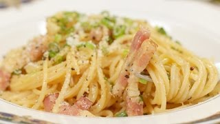Spaghetti Carbonara (Japanese-inspired Pasta Recipe) | Cooking with Dog
