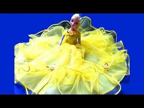 Búp Bê Công Chúa Disney Mặc Váy Cưới (Bí Đỏ) Queen Elsa Anna Ariel With Beautyfull  Long Gowns