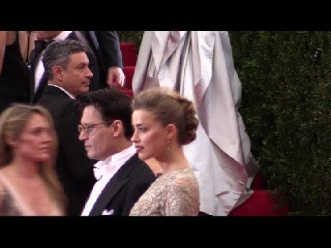 Johnny Depp and Amber Heard (Met Gala 2014)