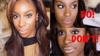 Top NUDE Lips for WOC//DO's & DON'Ts! #thepaintedlipsproject