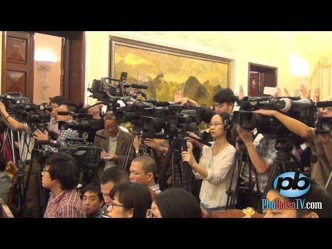 Trọn vẹn buổi họp báo về việc TQ hạ đặt giàn khoan trái phép (p2)