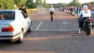Car Vs Bike Drag Race