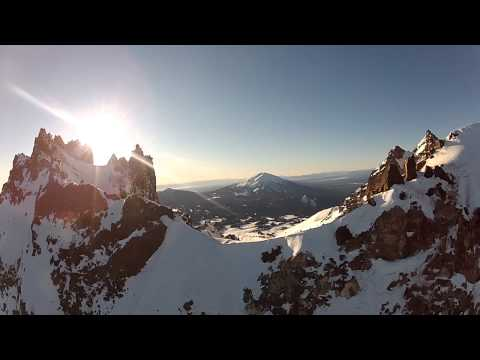Broken Top, Ice Crystals, Snow Capped Mountain Range in Central Oregon - GoPro & PPG