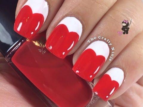 Cartoon Heart Nails
