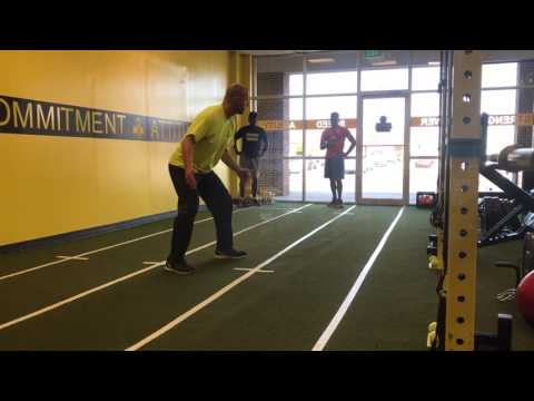 Basketball Shuffle Footwork Drill