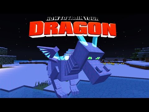 Minecraft - HOW TO TRAIN YOUR DRAGON - Riding the Ice Dragon ! [20]