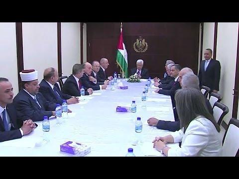 Juró el gobierno de unidad palestino y desató amenazas de Israel