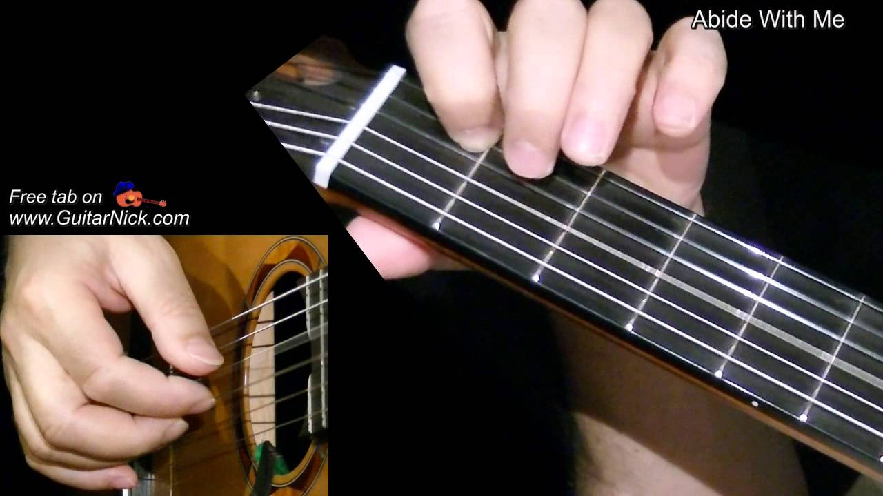Abide With Me: fingerstyle guitar + TAB! Learn to play ...