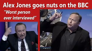 Alex Jones goes nuts on the BBC and host calls him an idiot & 'worst person ever interviewed'