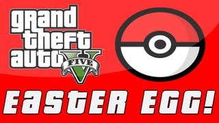 "Grand Theft Auto 5 Pokemon ""Pokeball"" Easter Egg! (GTA V"