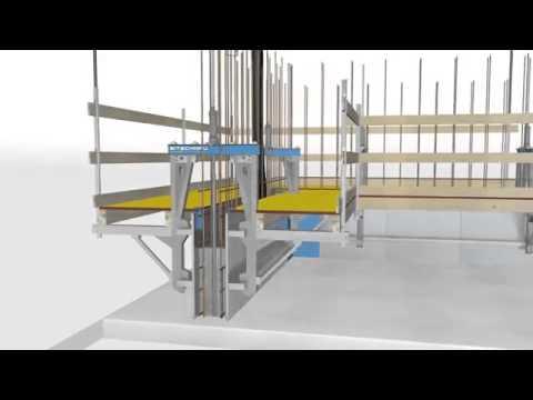Coffrage glissant technique de construction!