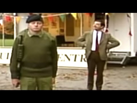 Mr Bean - Giving order to army cadets image