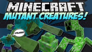 Minecraft MUTANT CREATURES MOD! MUTANT CREEPERS