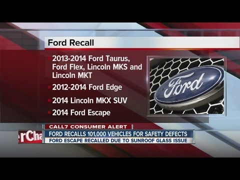 Ford recalls 100,610 vehicles for safety issues