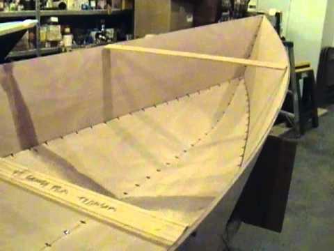 Tango Skiff XL Stitch and Glue Okoume Wooden Boat - YouTube