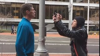 ANTIFA HARASS MAN FOR SUPPORTING POLICE - PORTLAND OR