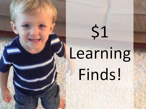 $1 LEARNING FINDS | Dollar Tree & Goodwill Toddler Teaching