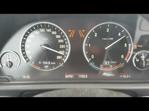 BMW 535D F10 Beschleunigung accelerating on Autobahn 0-256km/h 313PS