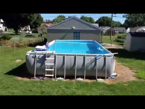 Intex pool 16x32 52 update youtube - How big is an average swimming pool ...