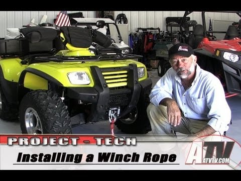 ATV Television Tech - Installing A Synthetic Winch Cable