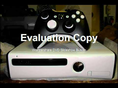 White Custom Xbox 360 Slim and controller