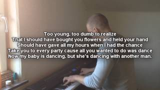 When I Was Your Man Bruno Mars KARAOKE Piano Cover