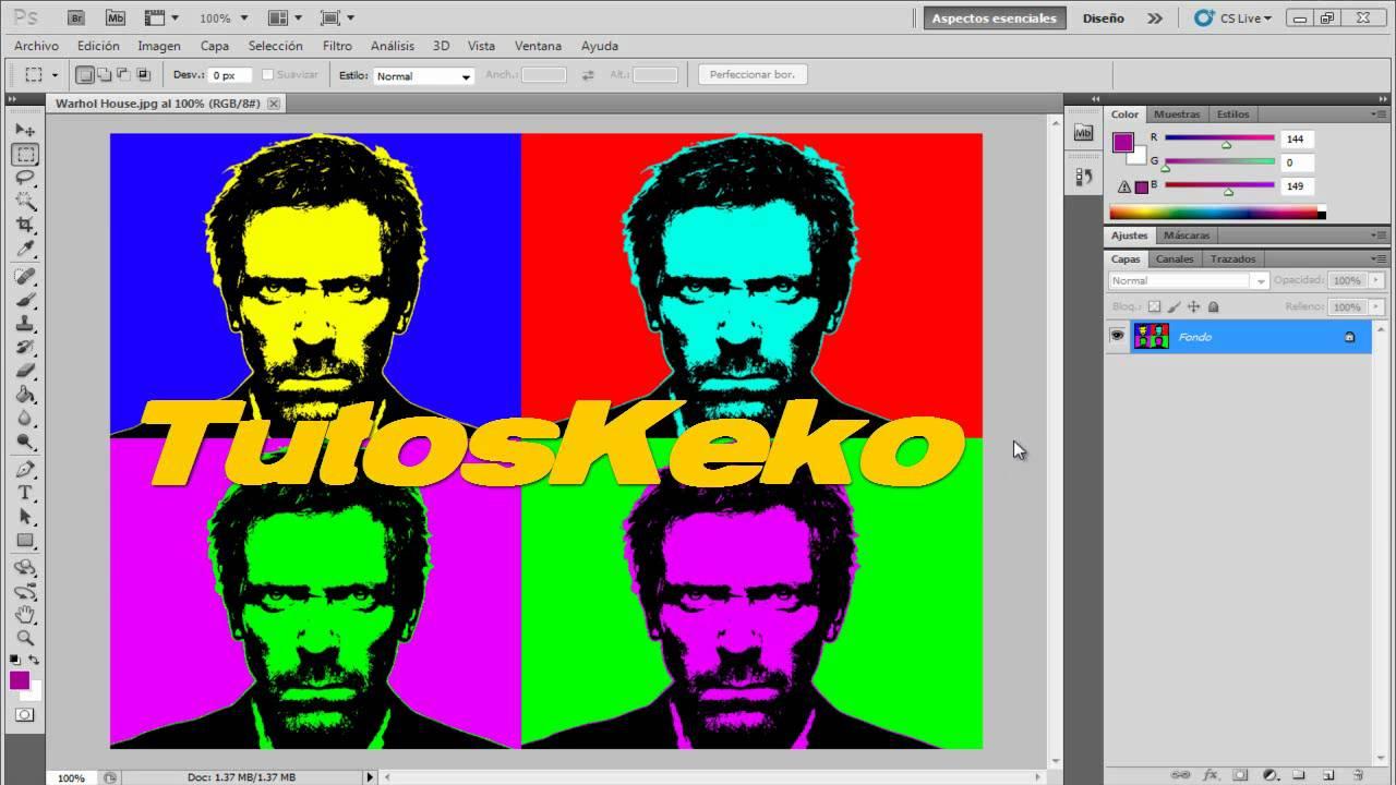 Tutorial Photoshop // Efecto Warhol - YouTube