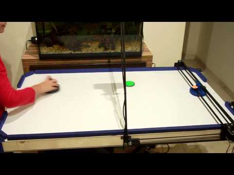 Air Hockey Robot Project (a 3D printer hack)