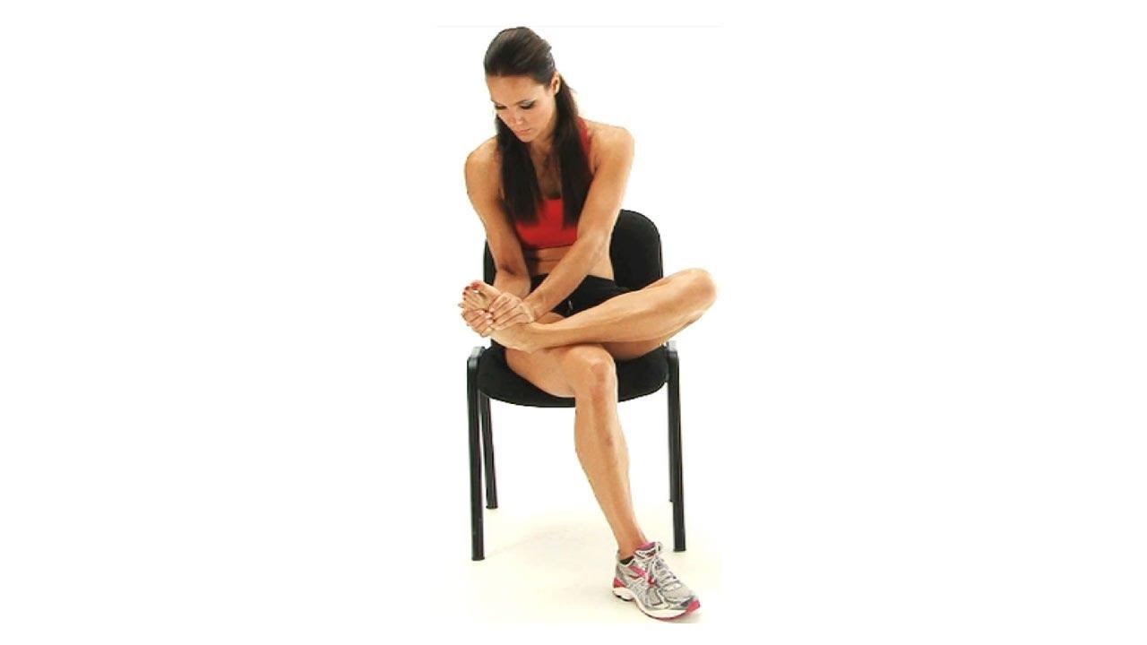 Ankle exercise - Peroneus Longus Stretch - YouTube